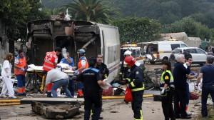 Accidente de tres en Santiago de Compostela