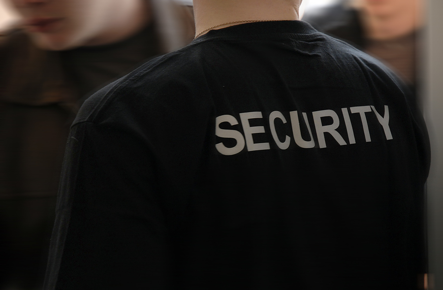 secutiry label on a t-shirt