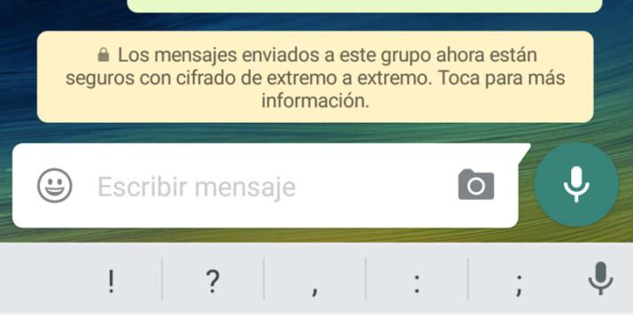 Los mensajes de WhatsApp ya son seguros