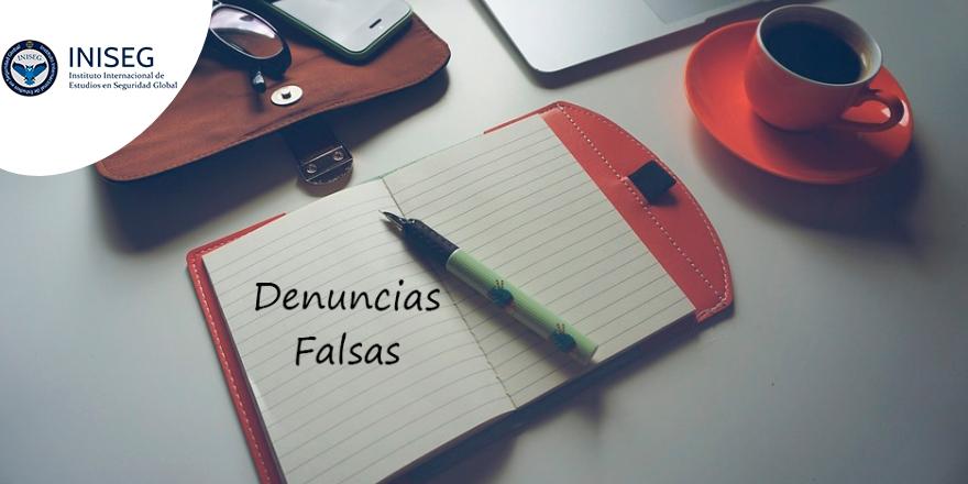 Denuncias falsas